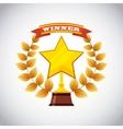 trophy award design vector image