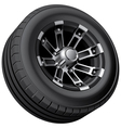 Off road vehicle wheel vector image
