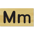 wooden letter m vector image vector image