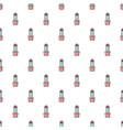 schlumbergera cactus pattern seamless vector image