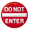 do not enter warning sign vector image vector image