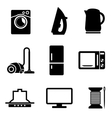 Set of home appliances icons vector image