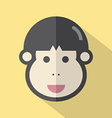 Single Young Mans Face Flat Design Icon vector image