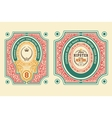 Baroque cards with ornaments and floral details vector image vector image