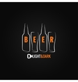 beer glass bottle ornate background vector image
