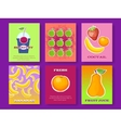 Healthy diet cards vector image vector image
