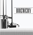 beautiful vintage brewery vector image