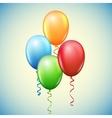 Balloon and ribbons vector image