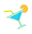 cocktail drink for night club or disco party vector image
