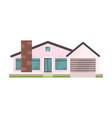 cottage and assorted real estate building icon vector image