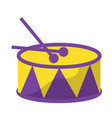 drum with sticks icon image vector image
