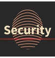 Fingerprint icon with security text vector image