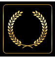 Gold laurel wreath design vector image