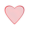 isolated heart shape vector image