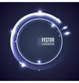 Light shining glowing ring vector image