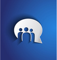 paper people bubble speaker with shadow effect vector image