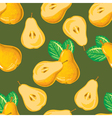 seamless pattern of yellow pear vector image