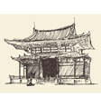 Sketch Chine Japan Landmark Vintage vector image