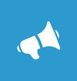 speaker icon white on the blue background vector image