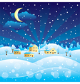 winter scenery vector image