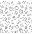 Halloween flat pattern vector image vector image