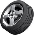 Alloy wheel isolated vector image vector image