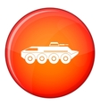 Armored personnel carrier icon flat style vector image