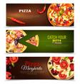 pizza horizontal banners set vector image