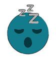 Sleepy eyes zzz emoji icon image vector image