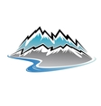 Mountains peaks and river vector image