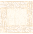 Hand drawn decorative abstract doodle background vector image