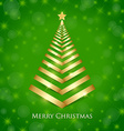 Golden Christmas tree vector image