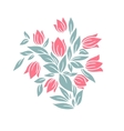 Bouquet of tulips Isolated on white vector image