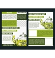 Flyer for green tea vector image