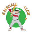 sticker baseball vector image