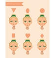 Six face shapes vector image