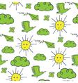 summer pattern green yellow vector image