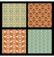 Art deco style seamless background tiles vintage vector image