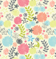 Beautiful a seamless pattern floral vector image