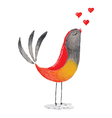 bird in love vector image