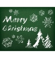 Christmas background on green vector image