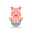 cute smiling pig funny cartoon animal vector image
