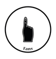 Fans foam finger icon vector image