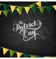 handwritten Saint Patricks Day label vector image