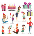 kid birthday set vector image