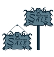 labels for sales on Halloween vector image