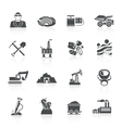 Mining Icons Black vector image