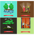 set of dolphinarium and circus show posters vector image