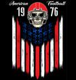 skull in a helmet to play american football vector image