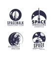 Space logo set in retro style vector image